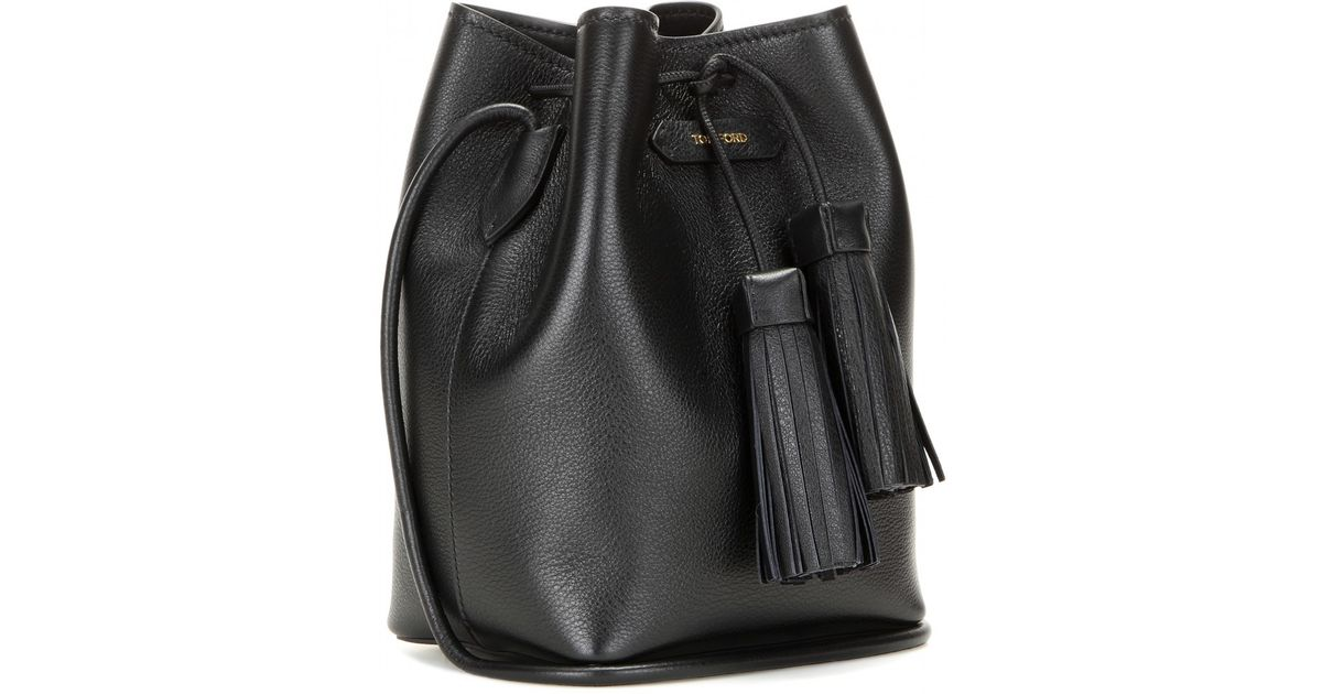 Lyst - Tom Ford Leather Bucket Bag in Black 74297aa88740