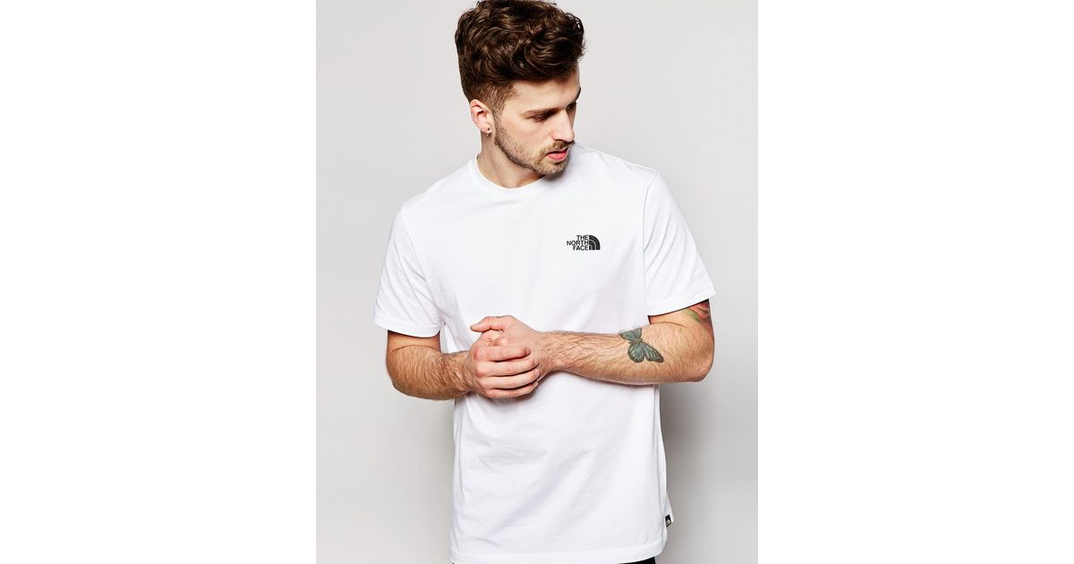 Lyst - The North Face T-shirt With Red Box Logo in White for Men 15e676e23