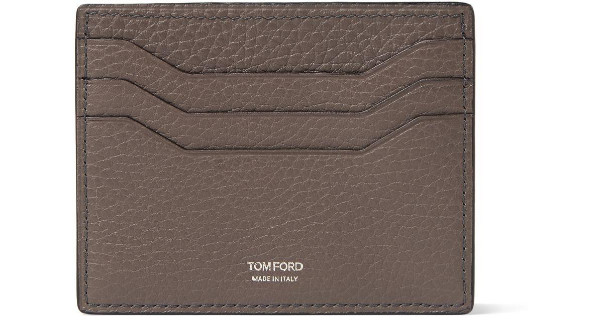 79994369c1 Tom Ford Gray Full-grain Leather Cardholder for men