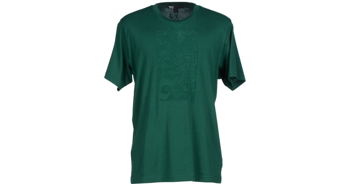 Y 3 t shirt in green for men emerald green save 21 lyst Emerald green mens dress shirt