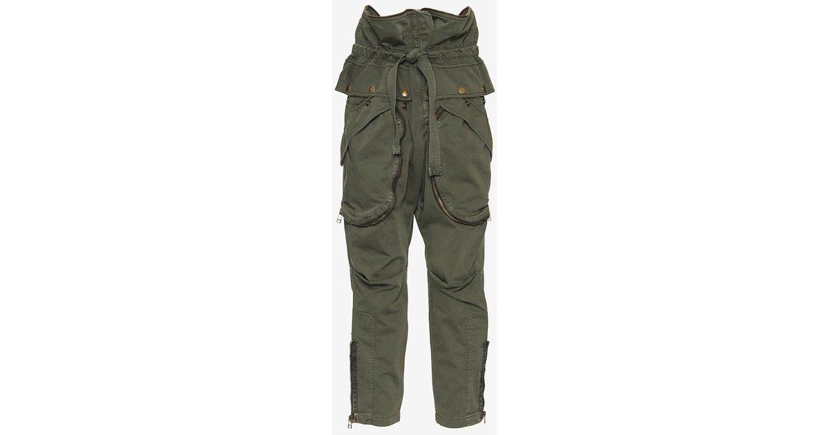 Faith connexion Zipper Detail Cargo Pants in Green | Lyst