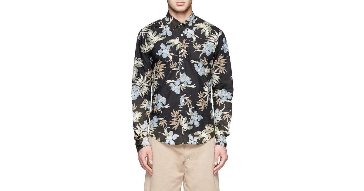 cf53e42b Scotch & Soda Hawaiian Print Cotton Shirt for Men - Lyst