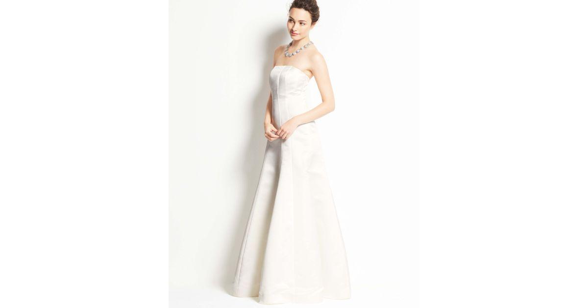 Lyst - Ann Taylor Petite Duchess Satin Strapless Wedding Dress in White