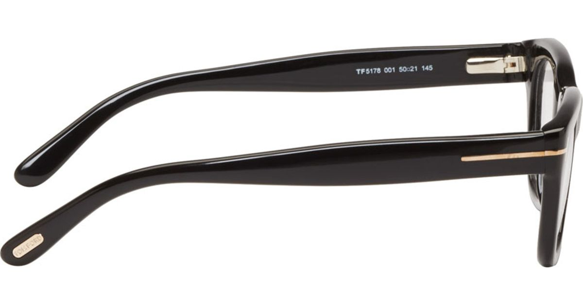 Lyst - Tom Ford Black Thick Frame Tf5178 Optical Glasses in Black ...