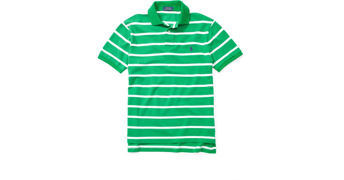 Lyst - Polo Ralph Lauren Classic-fit Striped Polo Shirt in Green for Men 974b3c96c8c