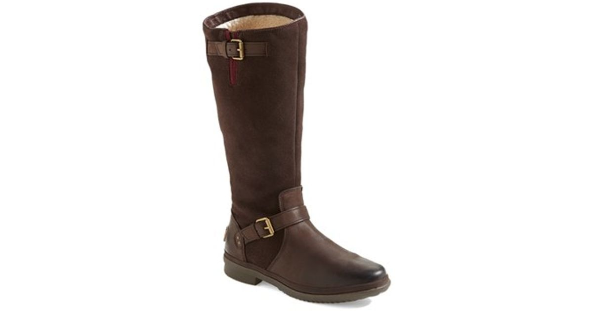 45234a2bef4 UGG Brown 'thomsen' Waterproof Leather Knee High Boot