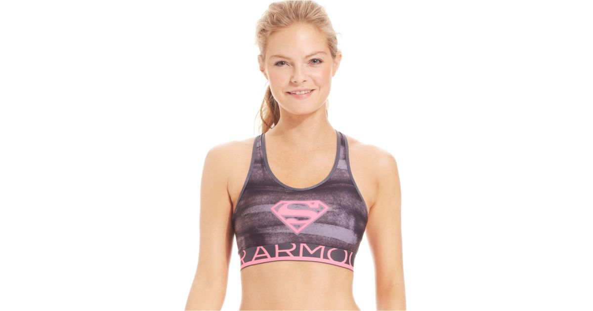 bbec98a17aea0 Lyst - Under Armour Supergirl Compression Sports Bra