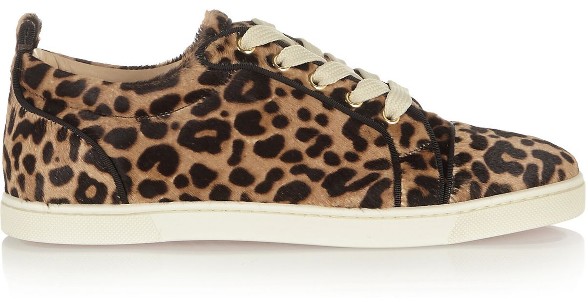 e5f1f56c002f Christian Louboutin Gondoliere Leopard-print Calf Hair Sneakers - Lyst