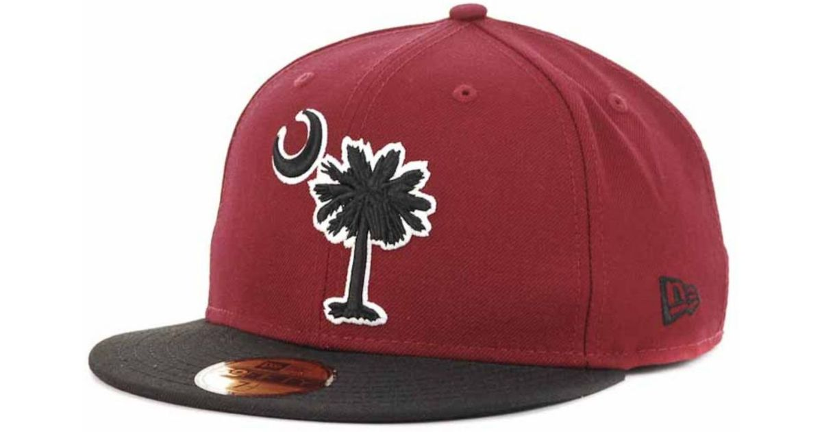 new style 4fd75 ff282 Lyst - KTZ South Carolina Gamecocks Ncaa 2tone 59fifty Cap in Red for Men