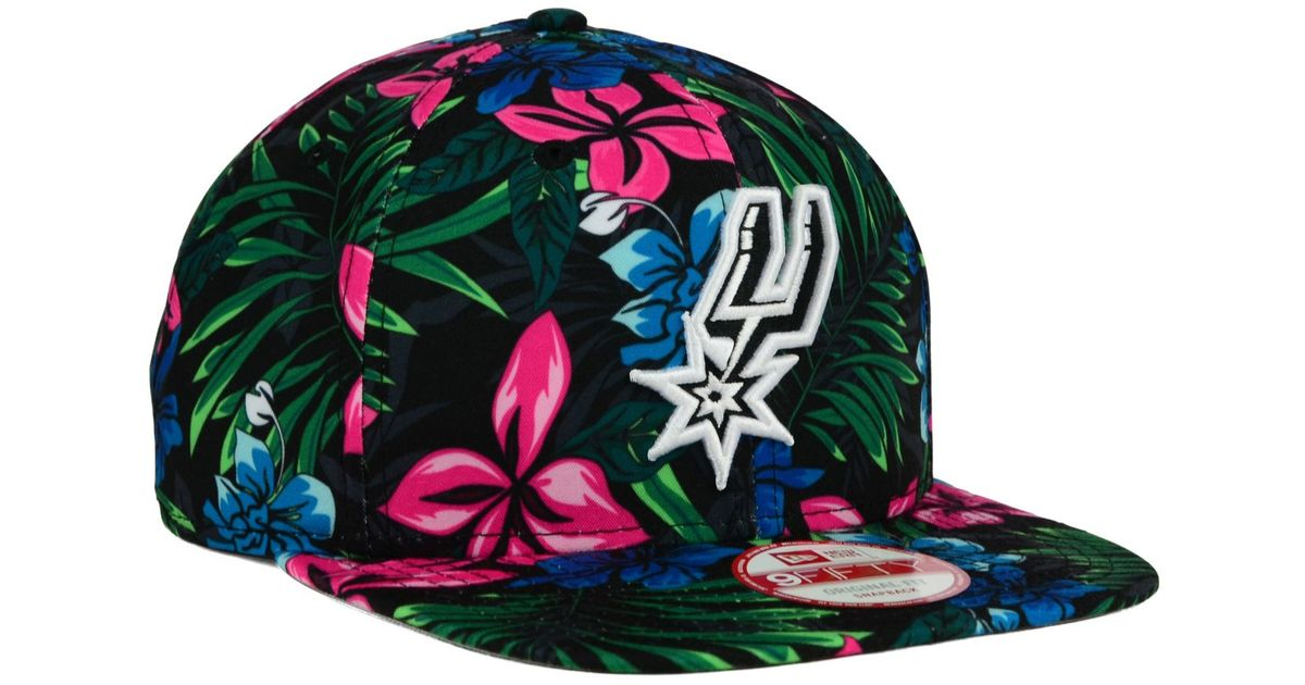 Lyst - KTZ San Antonio Spurs Hwc Shadow Floral 9fifty Snapback Cap in Green  for Men b1955e5d4865