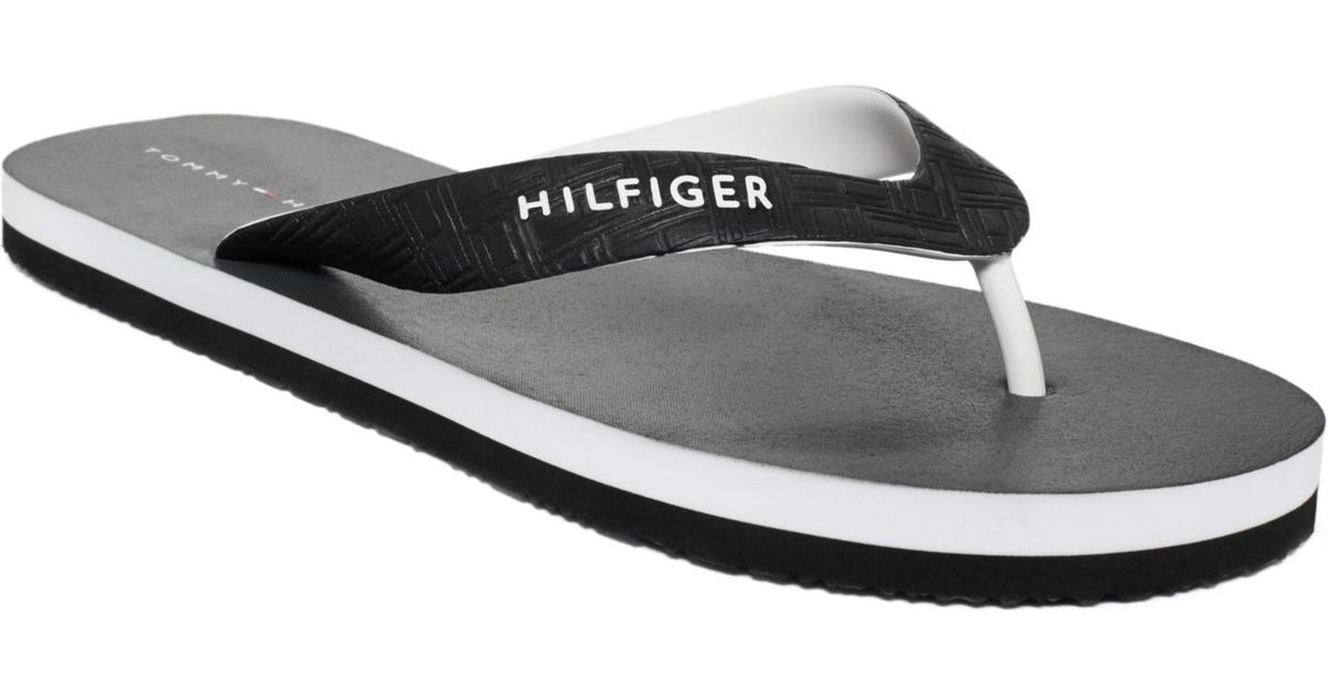 7654770c6e5c Lyst - Tommy Hilfiger Sullivan Flip Flops in Black for Men