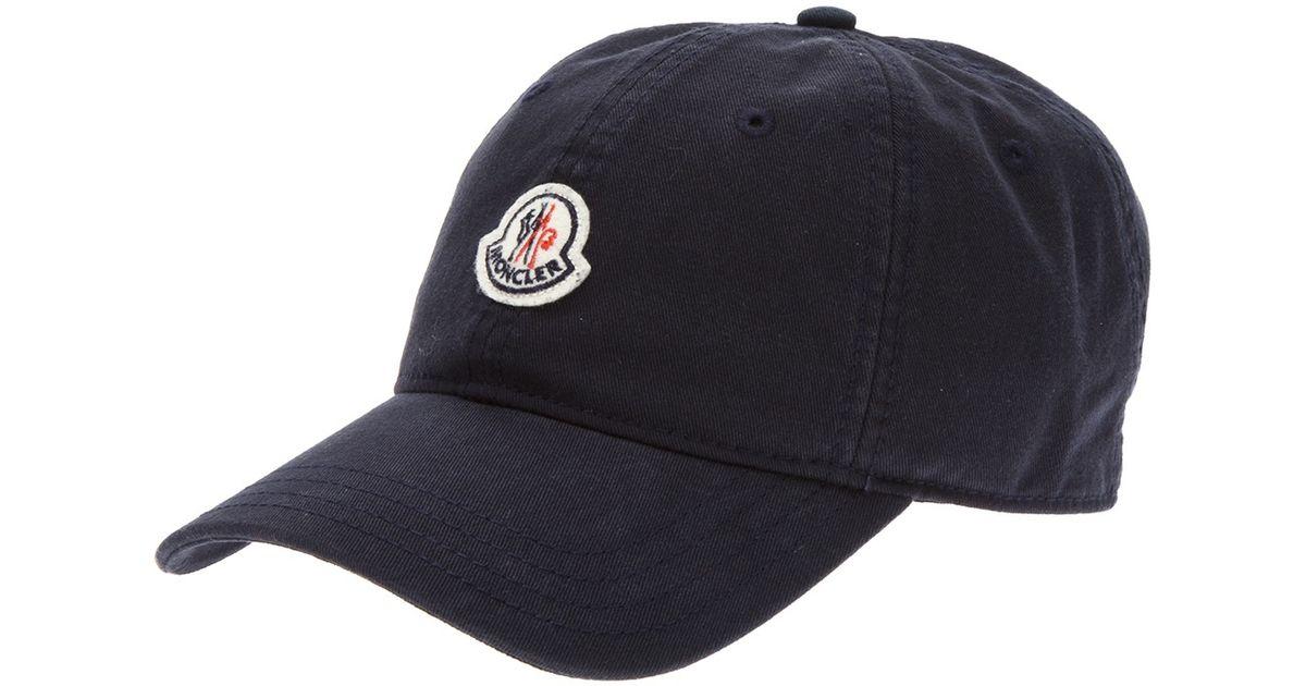 1301daa444e Moncler Logo Baseball Cap in Blue for Men - Lyst