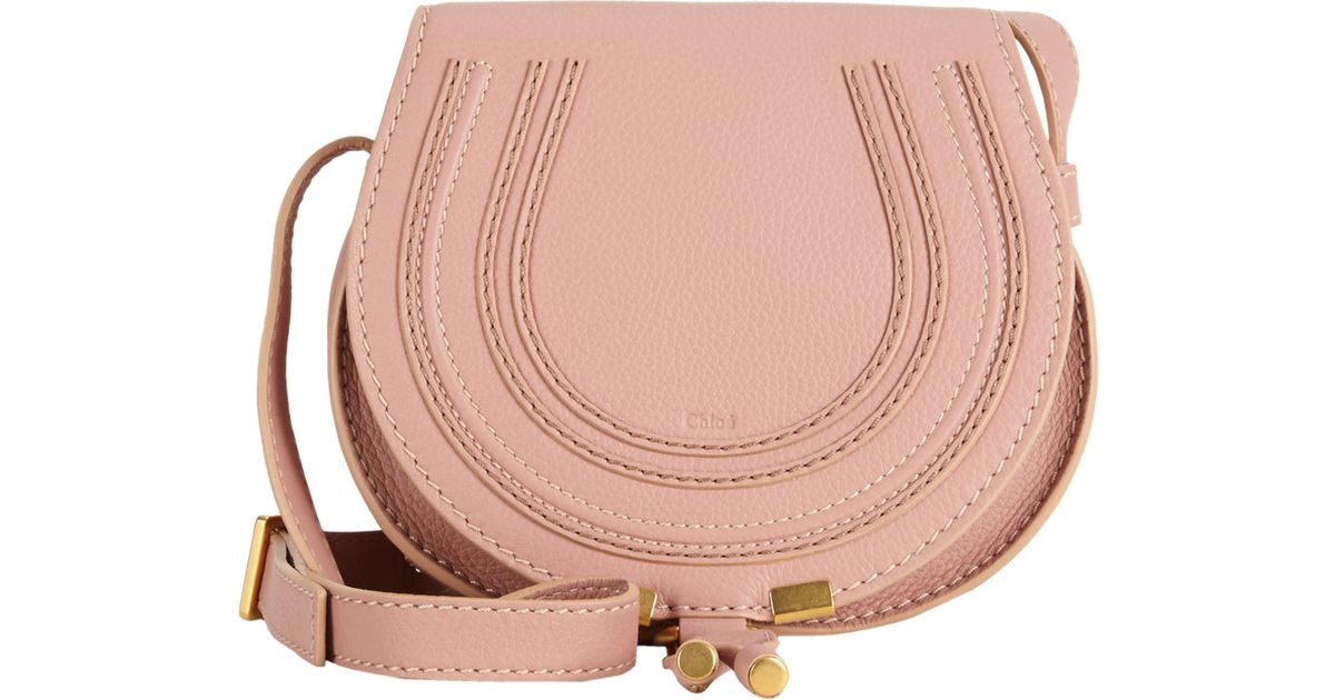 6821b4a3290 Chloé Small Marcie Saddle Bag in Pink - Lyst