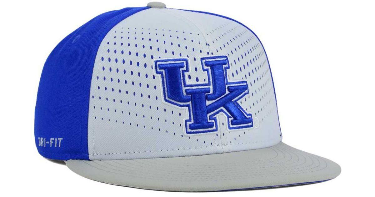 factory authentic 99d5e 54dc3 ... cheap lyst nike kentucky wildcats true seasonal snapback cap in white  for men b34c6 425bc