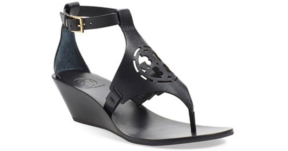 Tory Burch Logo Platform Wedge Sandals cheap geniue stockist huge surprise cheap sale reliable official site cheap price V8uFKQ