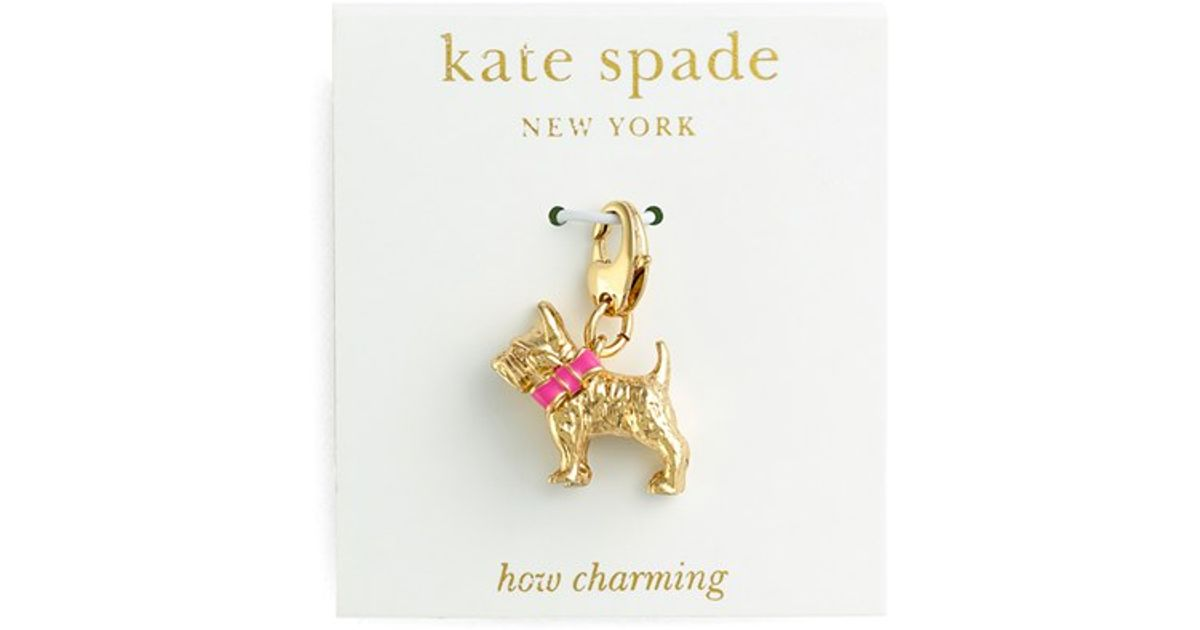 8c7a82165 Kate Spade 'how Charming' Novelty Charm - Multi- Dog Charm in Metallic -  Lyst