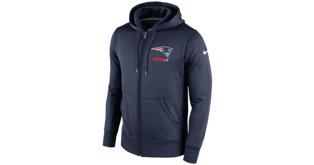 4c0206451a Lyst - Nike Men s New England Patriots Sideline Ko Fleece Full-zip Hoodie  in Blue for Men