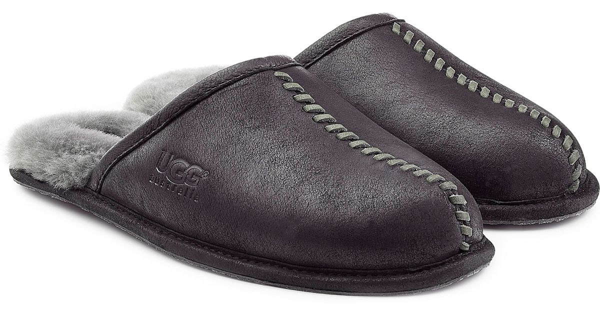 88a37d8842f Ugg Black Scuff Deco Suede Slippers for men
