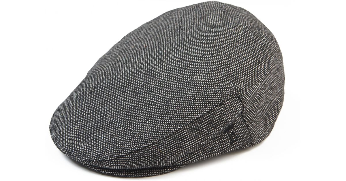 a5b137c5bc French Connection Dark Grey Flat Cap in Gray for Men - Lyst