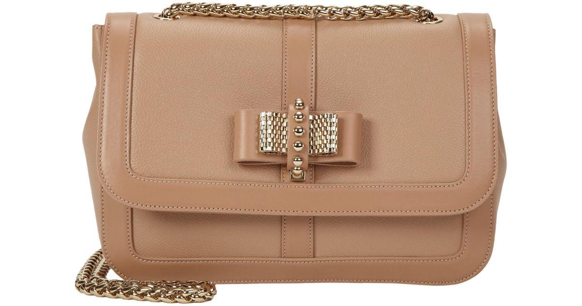 f1c841af577 Christian Louboutin Natural Small Sweet Charity Shoulder Bag