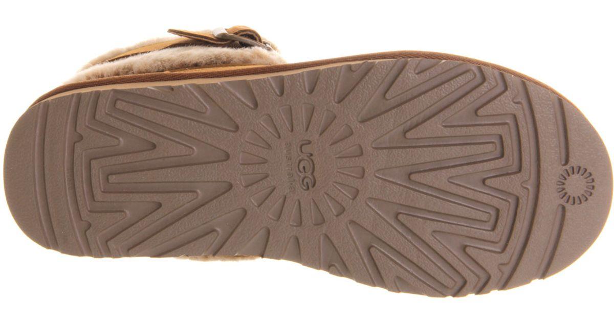 af228410a8e UGG Brown Jocelin Shearling Buckle Boots