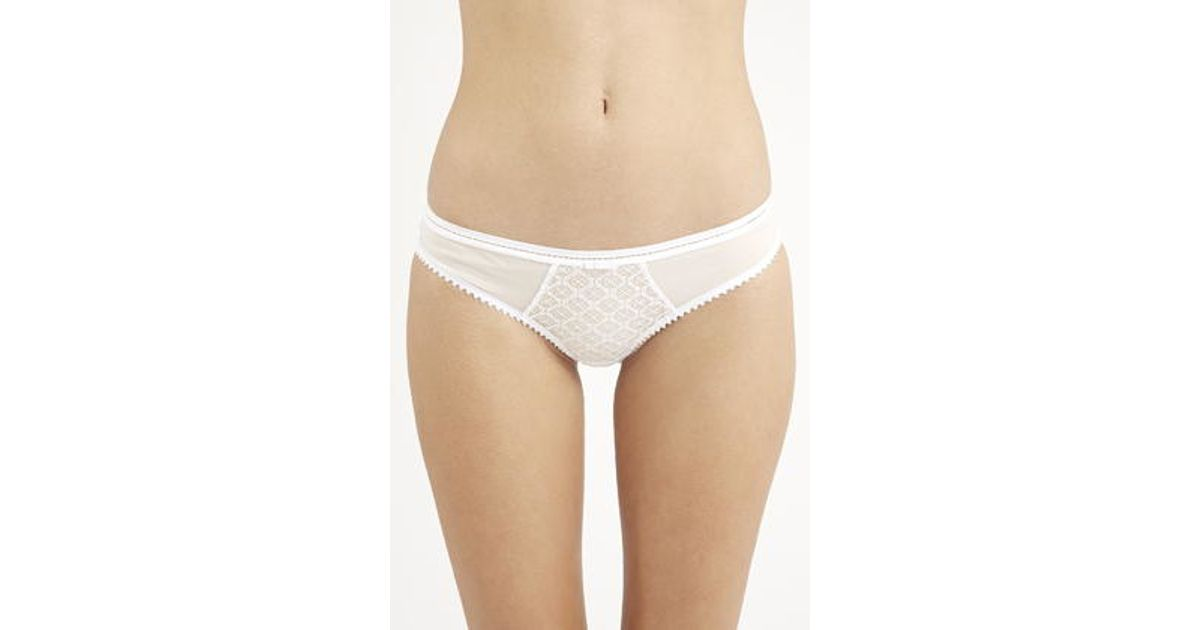 Topshop Lace Mini Panties in White