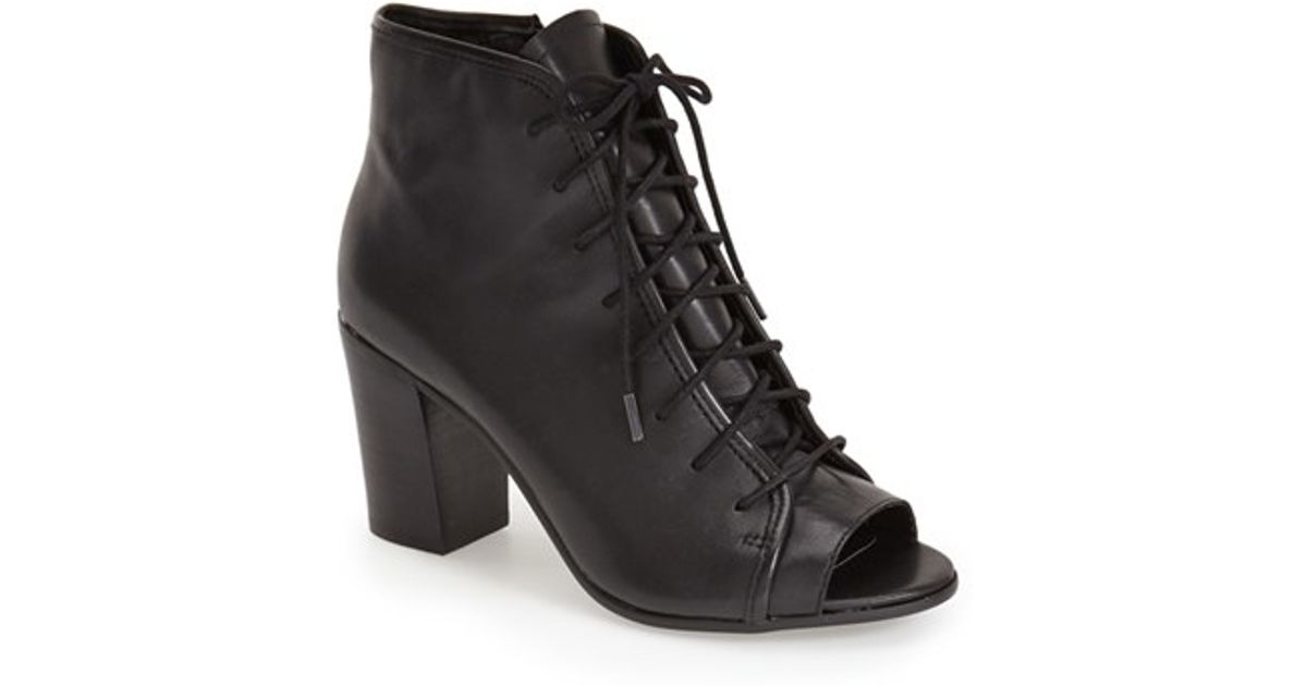 5234f4bf191 Steve Madden - Black 'neela' Lace-up Bootie - Lyst