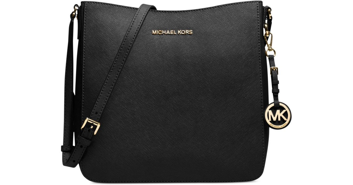 af2db53f01cd michael kors large jet set travel messenger black fulton gift set ...