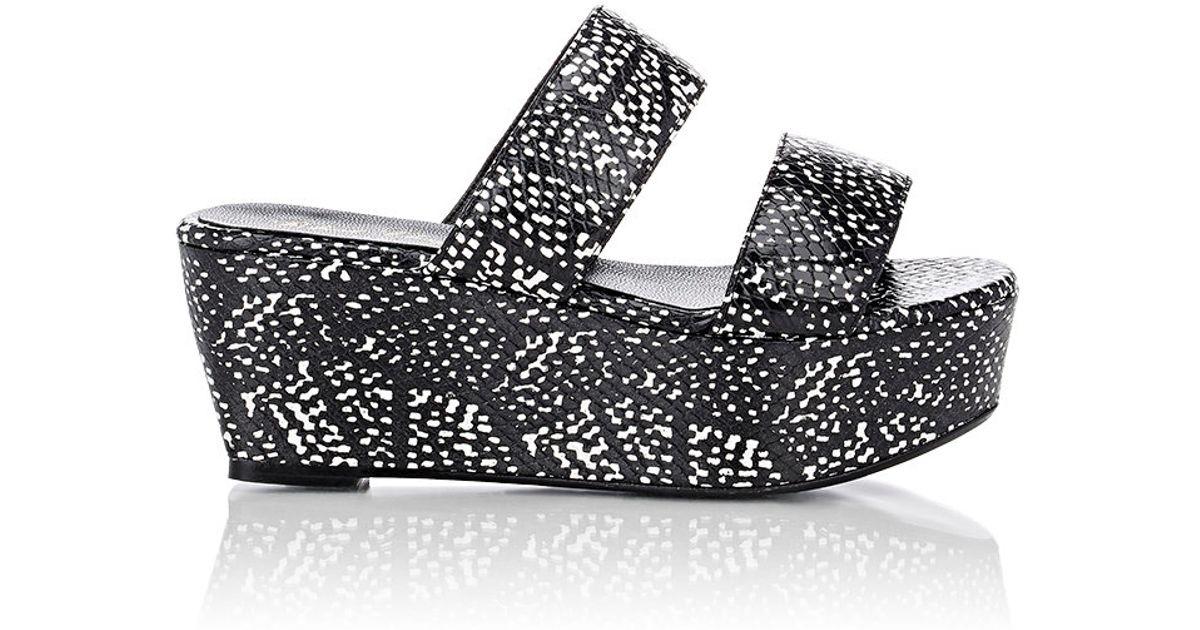 8f8aa9df2e7 Robert Clergerie Black Women's Frazziak Double-band Platform Sandals