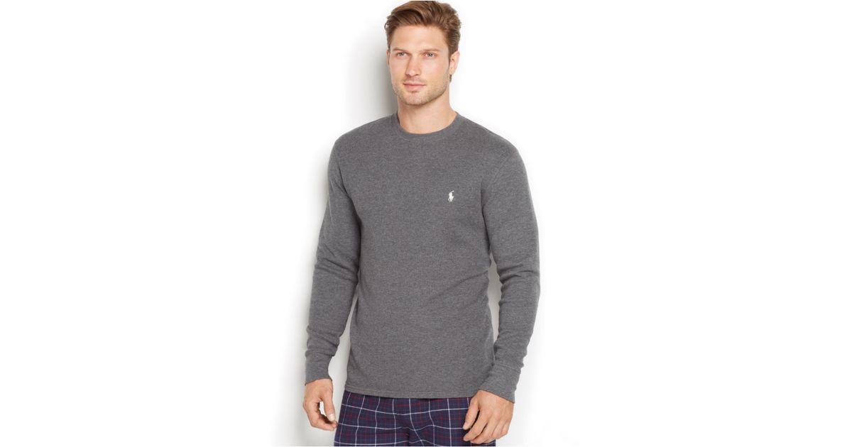 d2f2545c ... good lyst polo ralph lauren mens thermal crew neck shirt in gray for men  93dde 93f6c