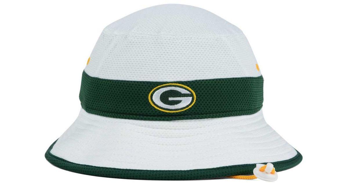 d5910b05 KTZ Green Bay Packers Training Camp Official Bucket Hat for men