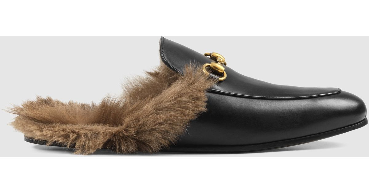 9e137e911 Lyst - Gucci Princetown Leather Slipper in Black for Men