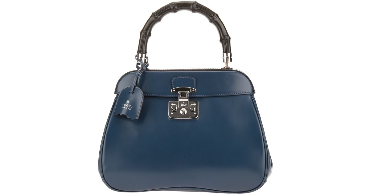 5a65ad17428 Lyst - Gucci Lady Lock Tote in Blue