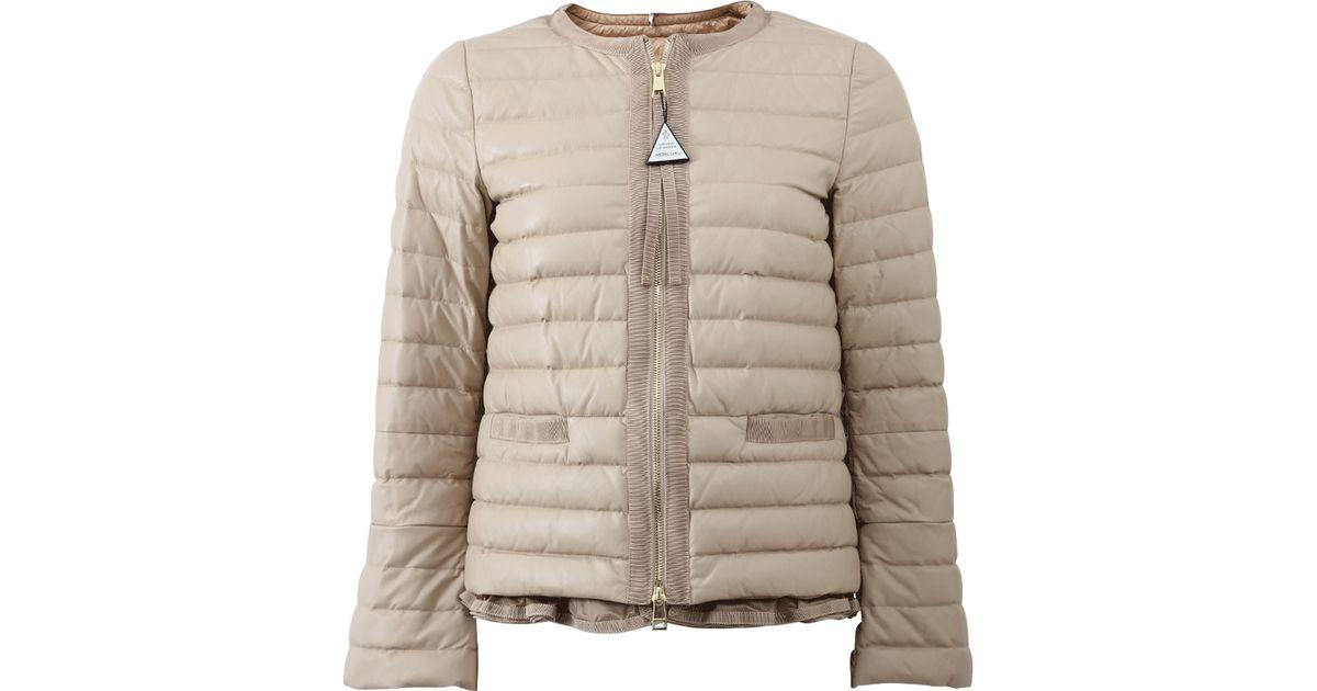 4fdd55097 Moncler Natural Ombrine Ruffle Hem Jacket