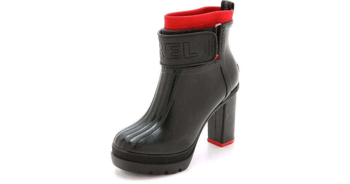 5daca21dc8b Sorel Medina Iii Rubber Heel Booties - Black/shark