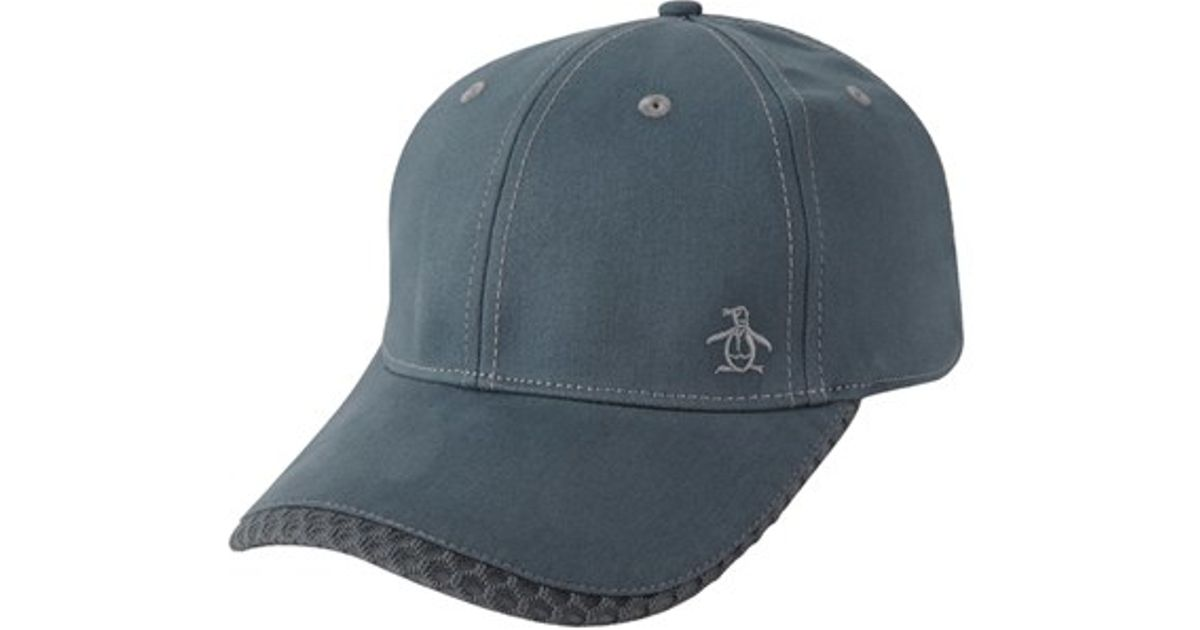 original penguin stretch fit baseball cap in gray for