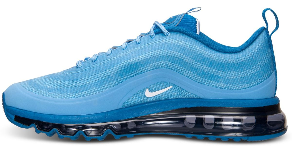 hot sale online f23d4 433b7 Nike Mens Air Max 97 Running Sneakers From Finish Line in Blue for Men -  Lyst