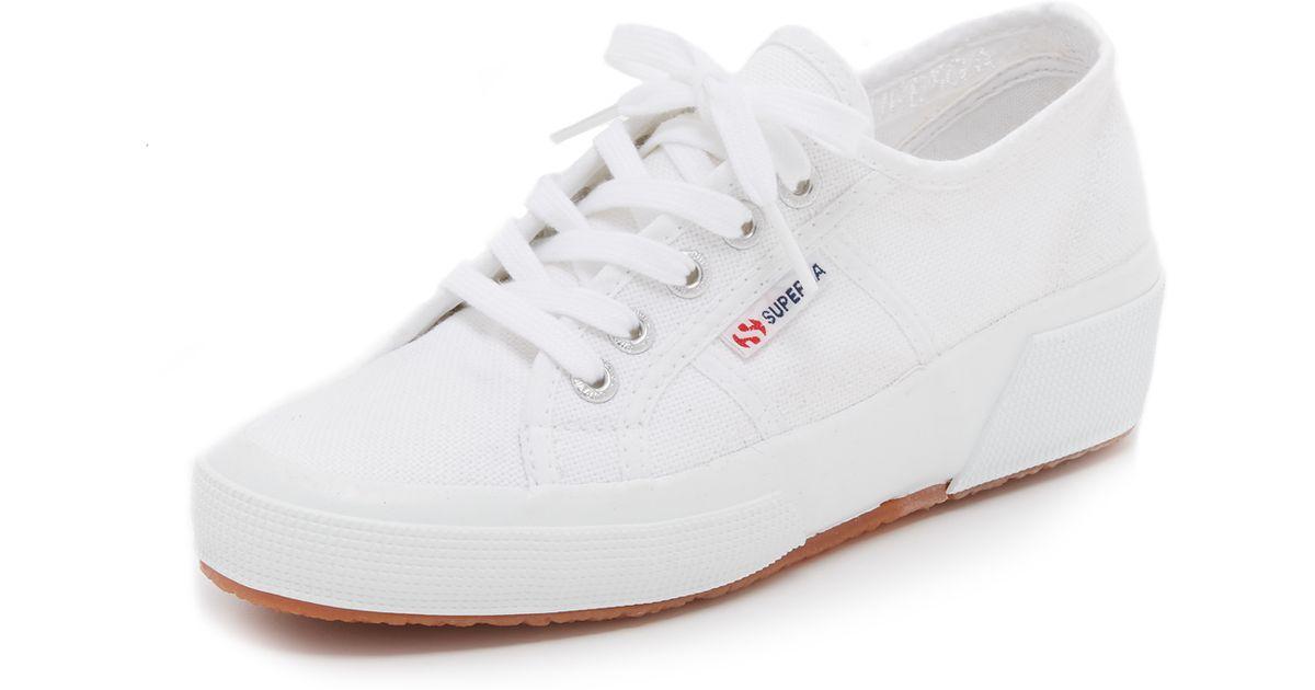 Superga Canvas Cotu Wedge Sneakers in