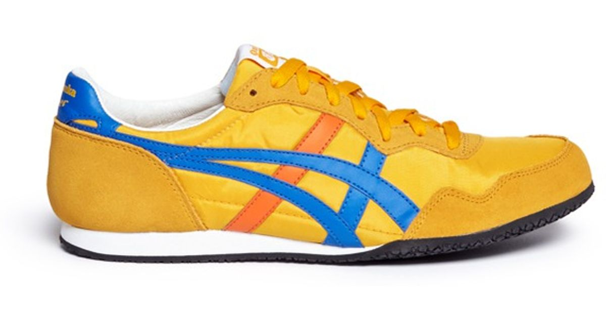 finest selection 88354 89947 Onitsuka Tiger Yellow 'serrano' Leather Suede Nylon Sneakers for men