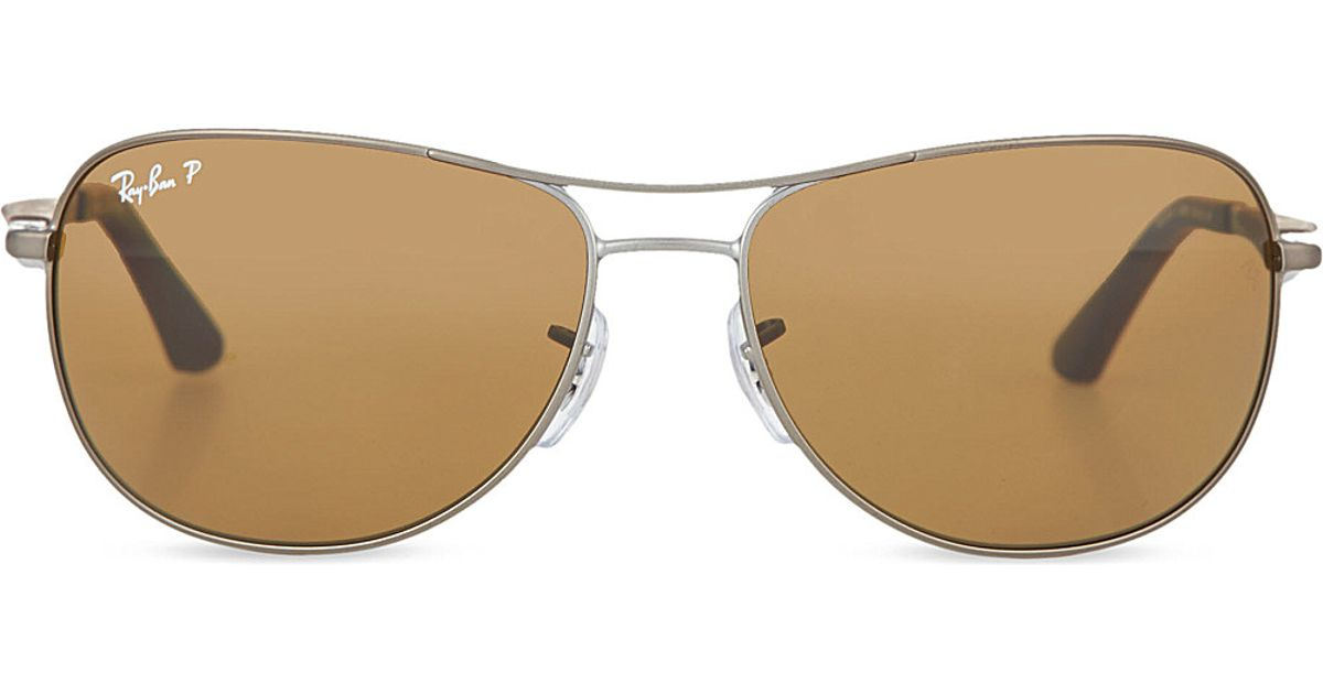 9887ef7888 Lyst - Ray-Ban Rb3519 Pilot Sunglasses in Brown for Men