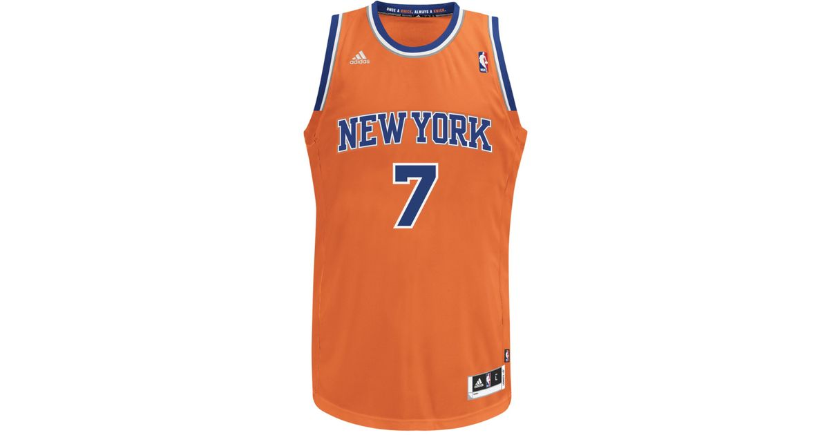 ... sweden lyst adidas mens carmelo anthony new york knicks swingman jersey  in orange for men eea79 1efeb19c0