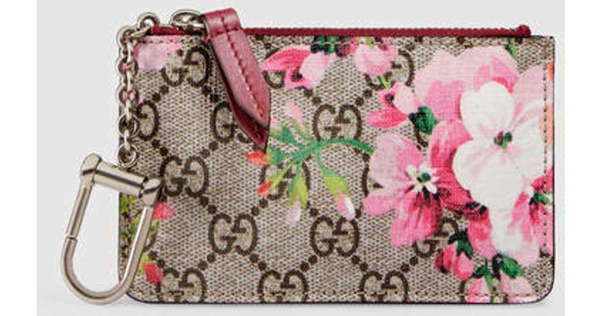 pretty nice 566a9 08e75 Gucci Multicolor Gg Blooms Key Case