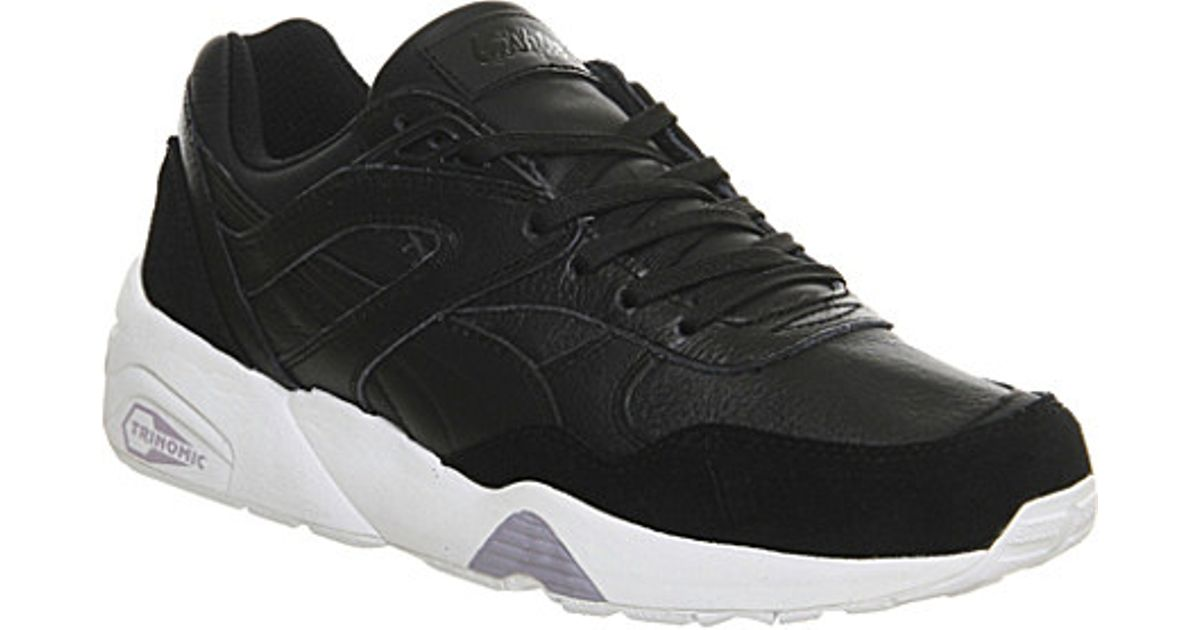 new style 1c75f 31265 PUMA Black Trinomic R698 Suede And Leather Trainers - For Women