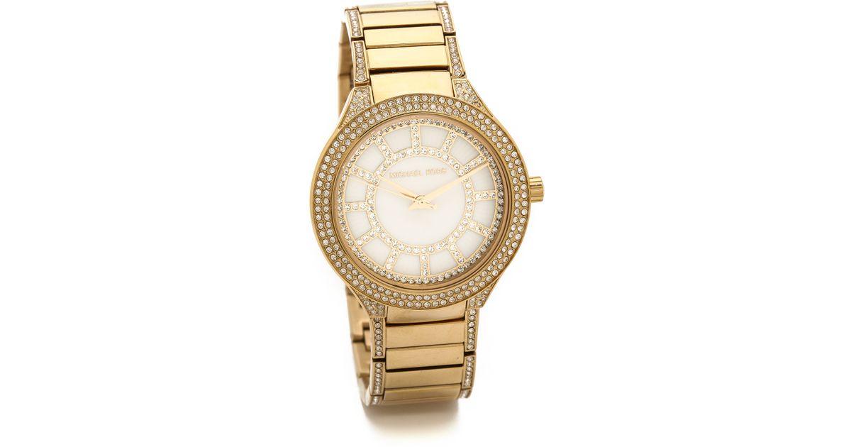 ef92183e9e64 Lyst - Michael Kors Kerry Watch - Gold in Metallic