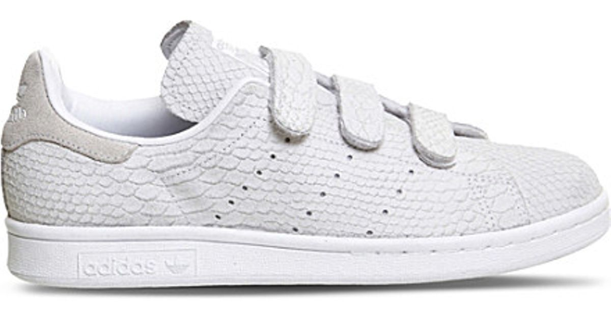 reputable site 5dd38 00696 Adidas Originals White Stan Smith Cf Low-top Leather Trainers