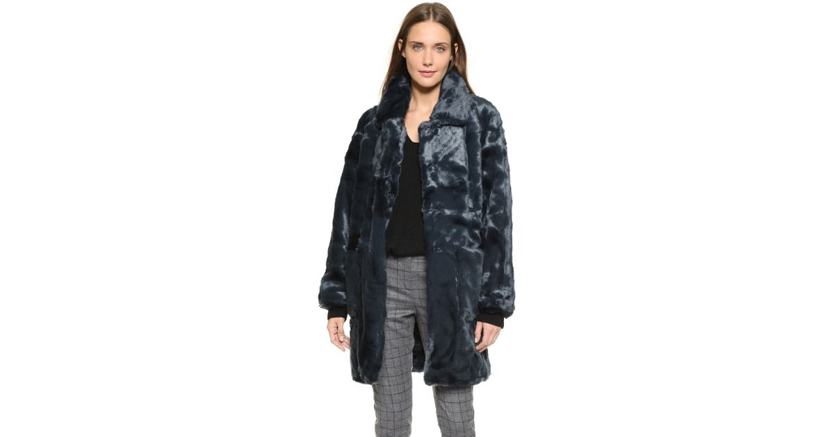 d6ab1fd1a9 Ganni Liberty Street Coat - Total Eclipse in Blue - Lyst