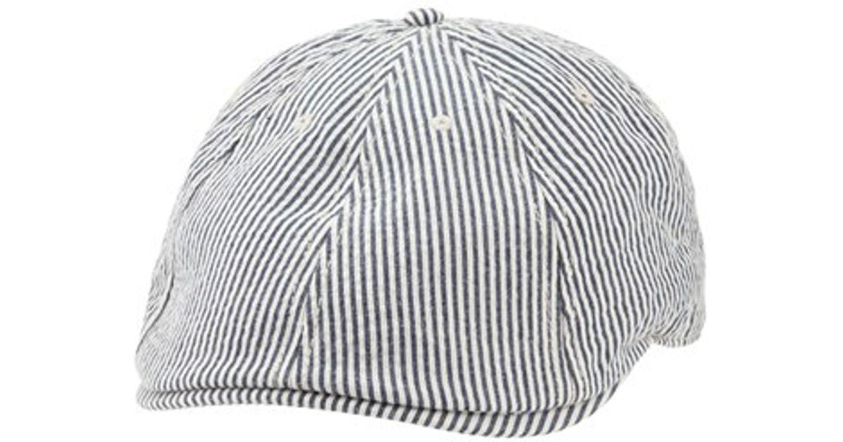 3698417c451 Lyst - Ben Sherman Stripe Driving Cap in Blue for Men