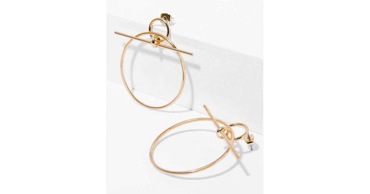 7 For All Mankind Wanderlust + Co Double Bar Circle Earrings In Mint And Gold j3Gln