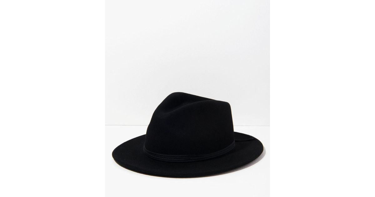 Lyst - 7 For All Mankind Lana Fedora In Black in Black for Men b10699c09c6