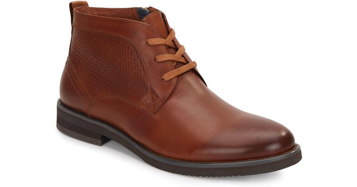 zanzara siena leather chukka boots in brown for lyst